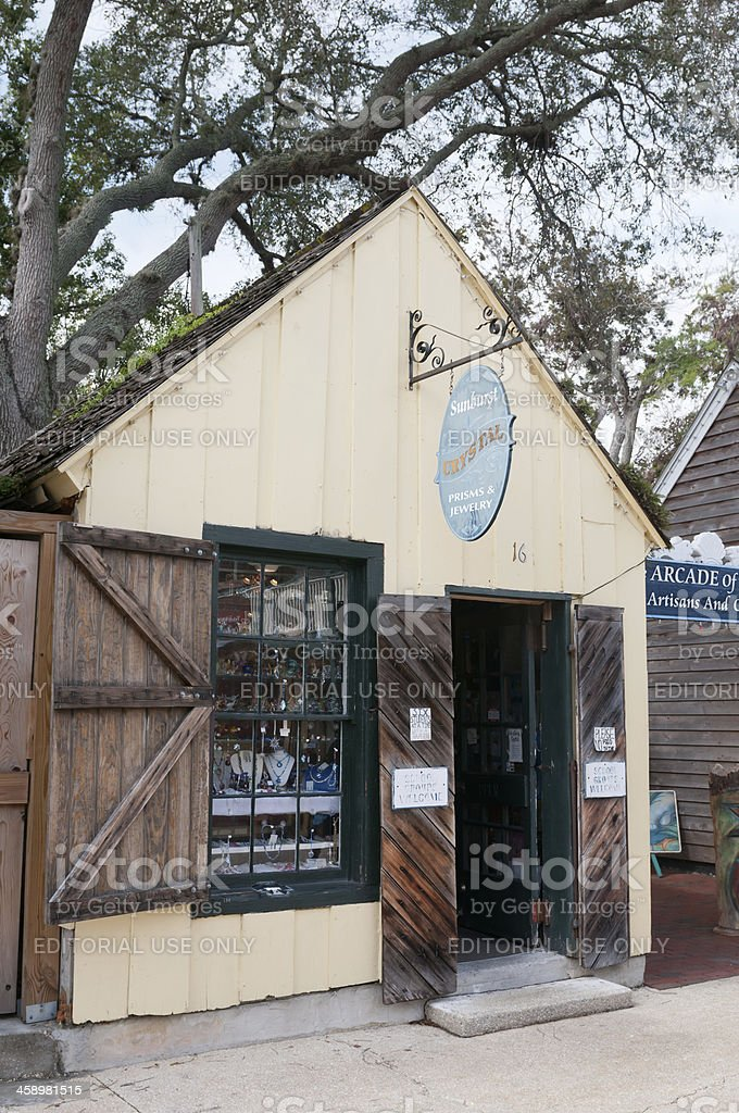 Jewelry shop at Spanish Quarter in St. Augustine, Florida, USA royalty-free stock photo