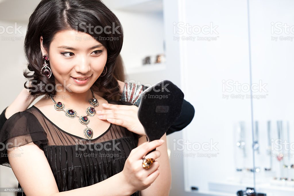 Jewelry shopping royalty-free stock photo