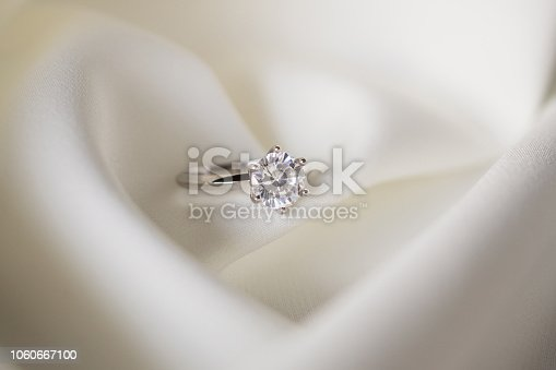 Jewelry wedding diamond ring close up