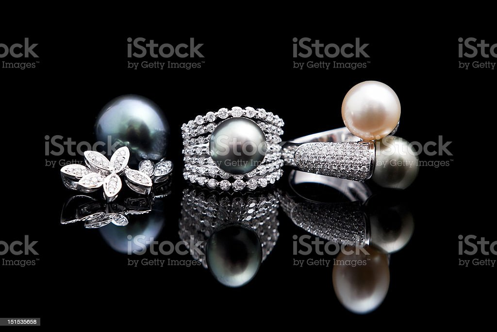 Jewels and rings royalty-free stock photo