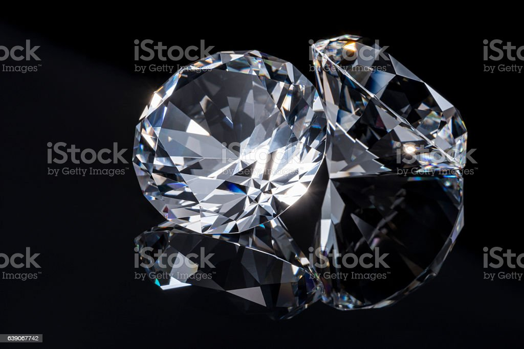 Jewels on black background stock photo