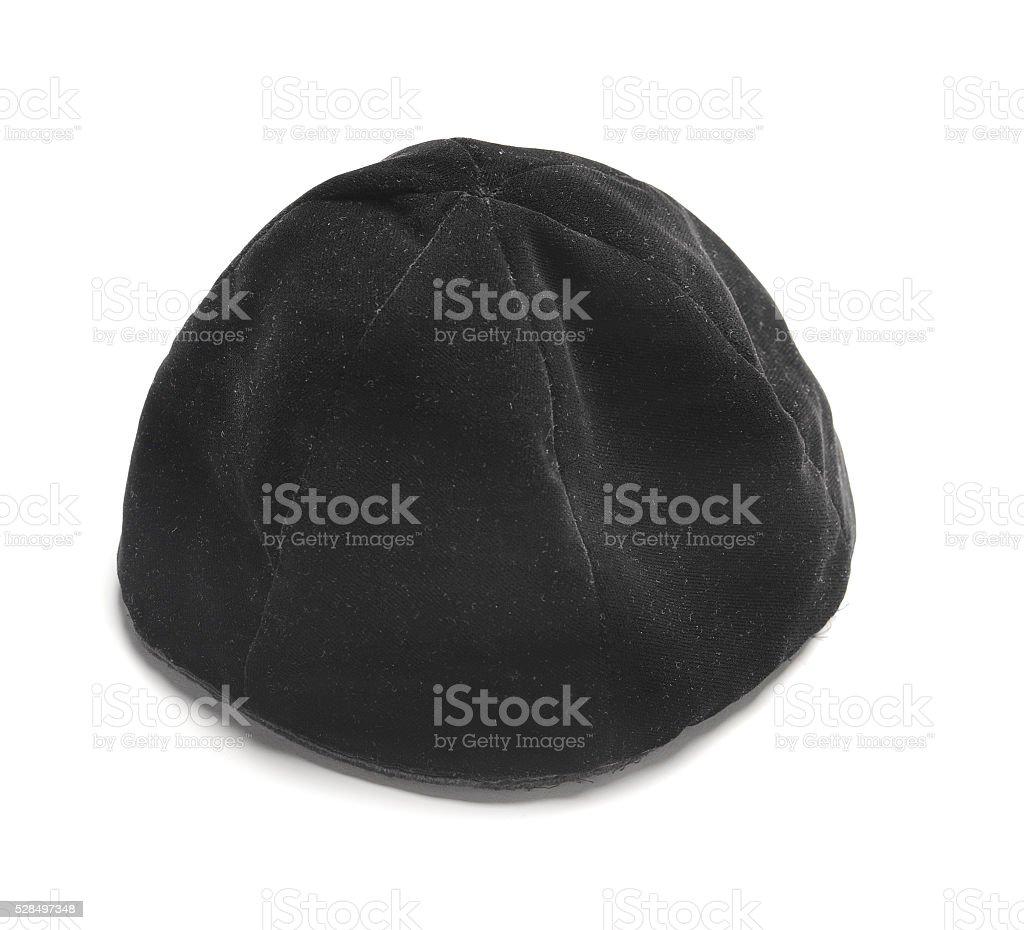 Jewish black hat stock photo