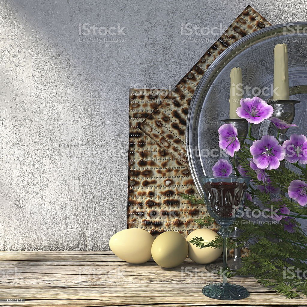 Jewish celebrate pesach passover holiday background stock photo