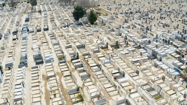 Jüdischer Friedhof-Luftaufnahme – Foto