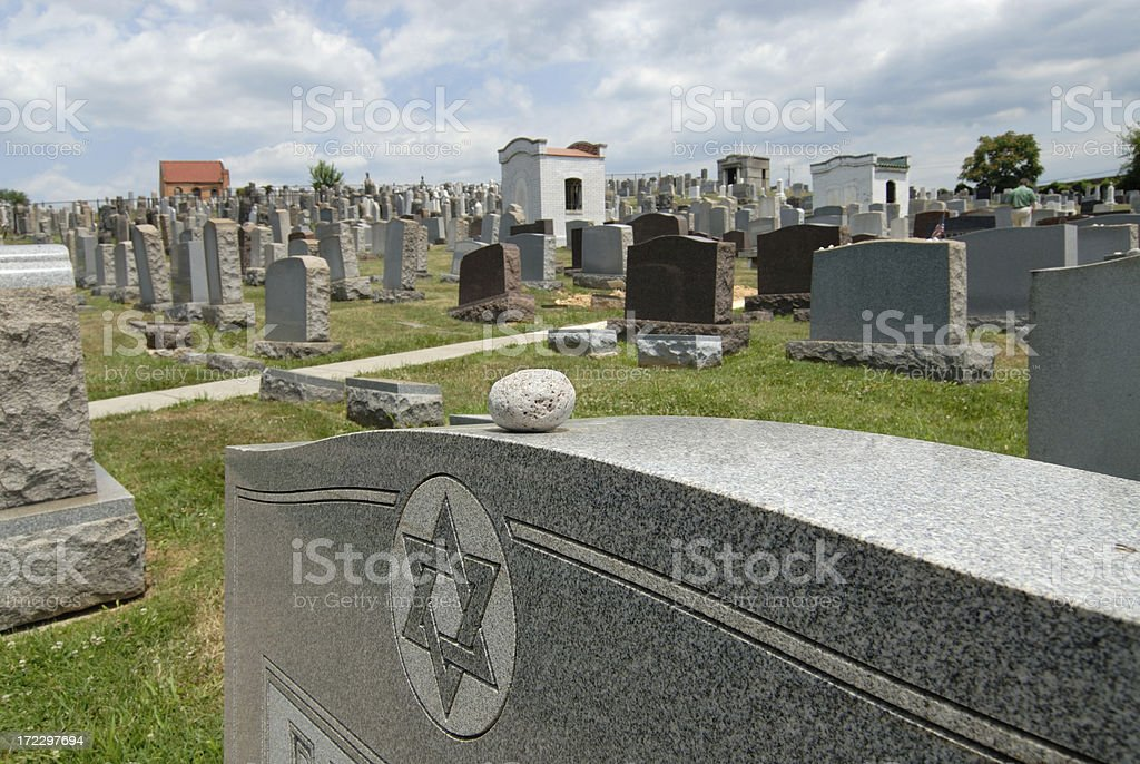 Jewish Cemetery Customs stock photo