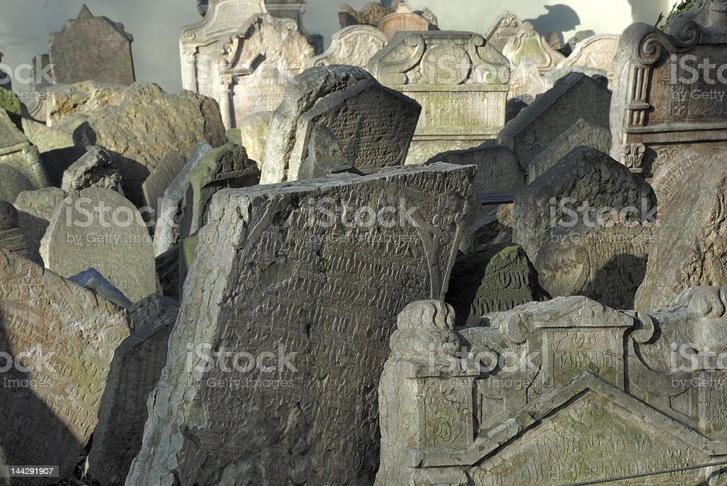 Jewish Cemetery in Prague, Czech Republic royalty-free stock photo