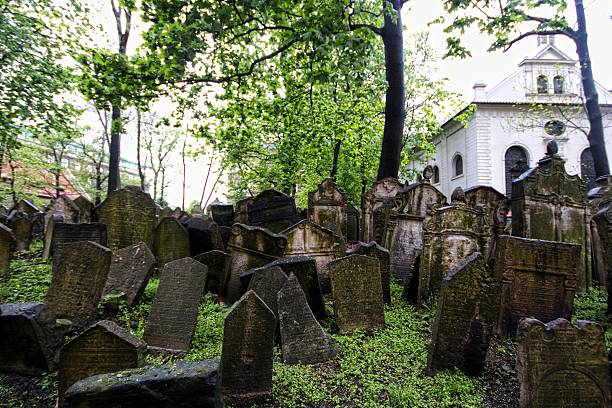 jewish cemetery in prague - crypt stock pictures, royalty-free photos & images