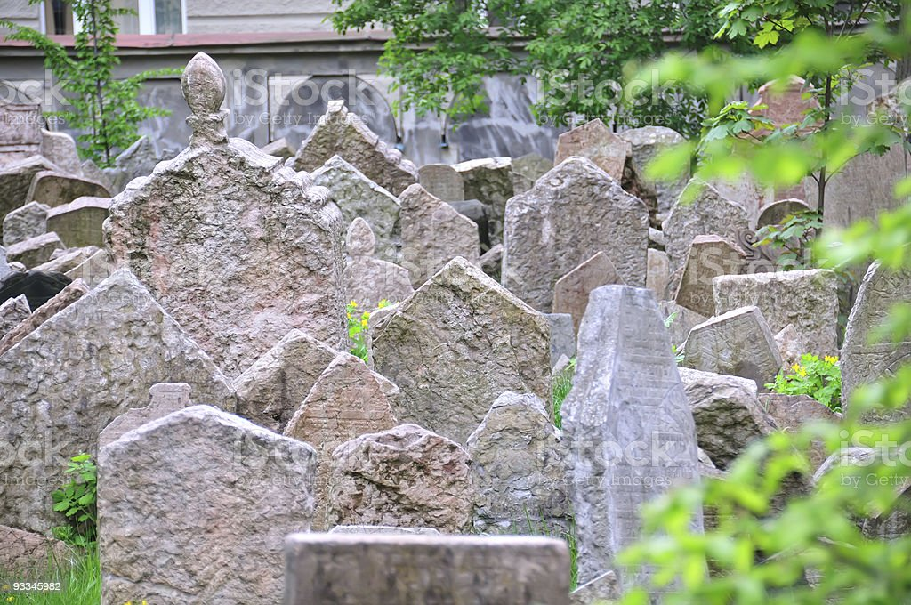 Jewish cemetery royalty-free stock photo