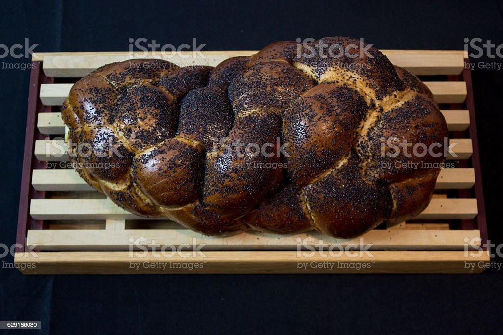 Jewish Challah Bread for Shabbat stock photo