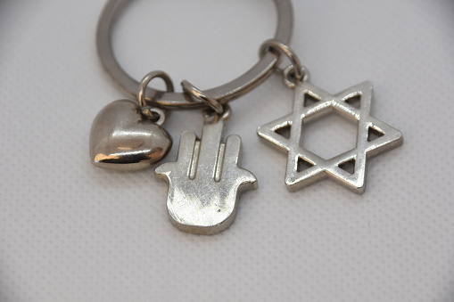 Jewish features ON White background