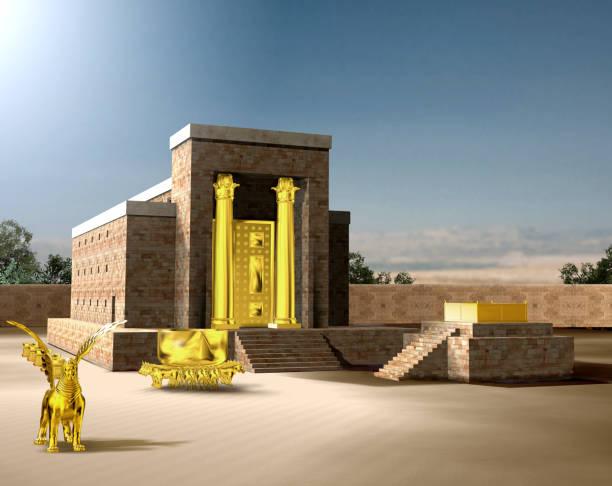 jüdischer erster tempel von salomo - engelportal stock-fotos und bilder