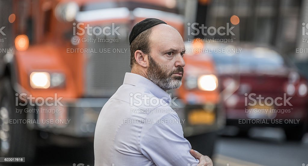 Jewish gentleman, Manhattan, New York City, United States stock photo