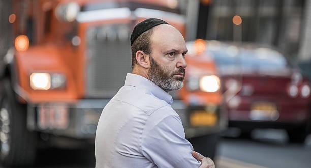 Jewish gentleman, Manhattan, New York City, United States stock photo