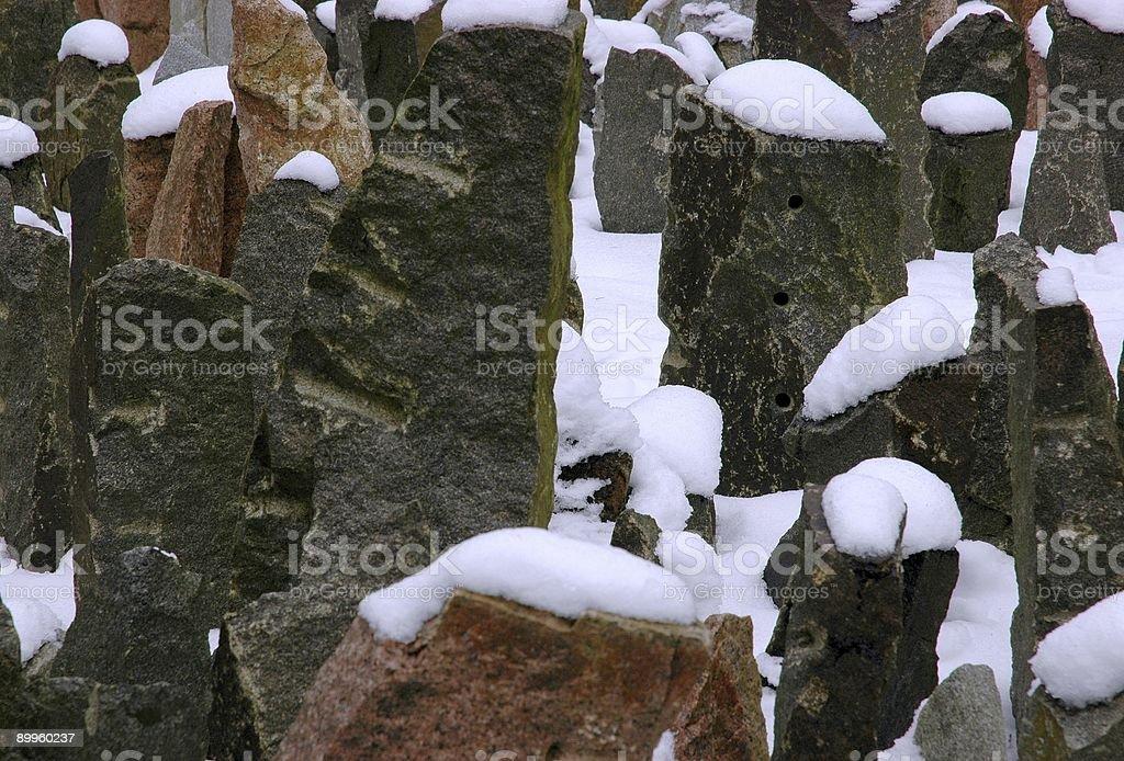 Jewish Graveyard Stones Close Up stock photo