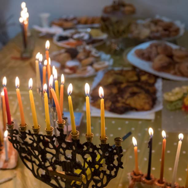 猶太光明節慶祝-以色列圖像檔