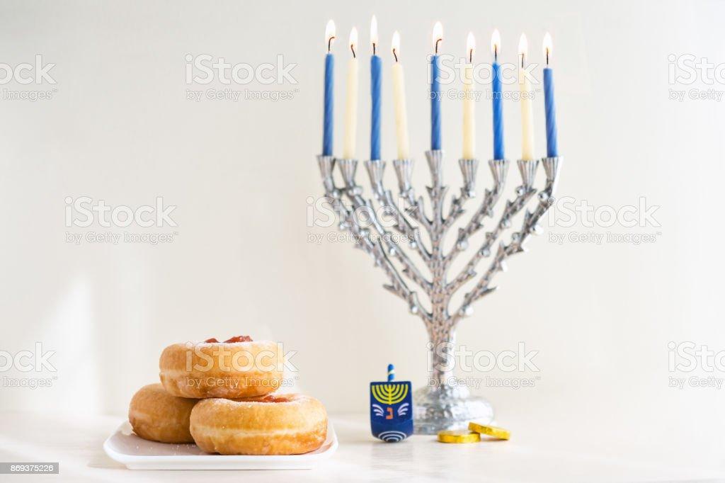Jewish holiday Hanukkah stock photo
