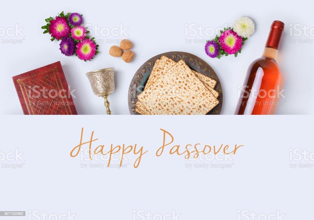 Jüdischer Feiertag Pessach-Banner-design – Foto
