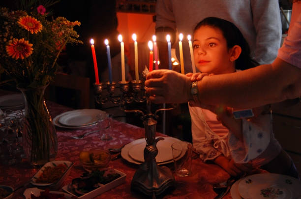 jewish holidays hanukkah - hanukkah stock pictures, royalty-free photos & images