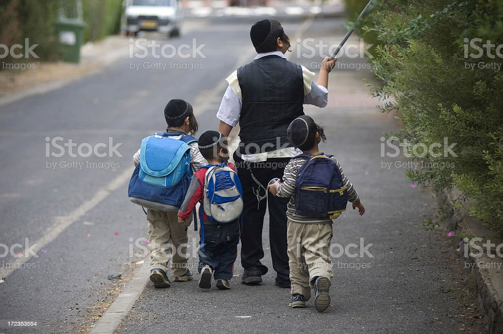 Jewish kids stock photo