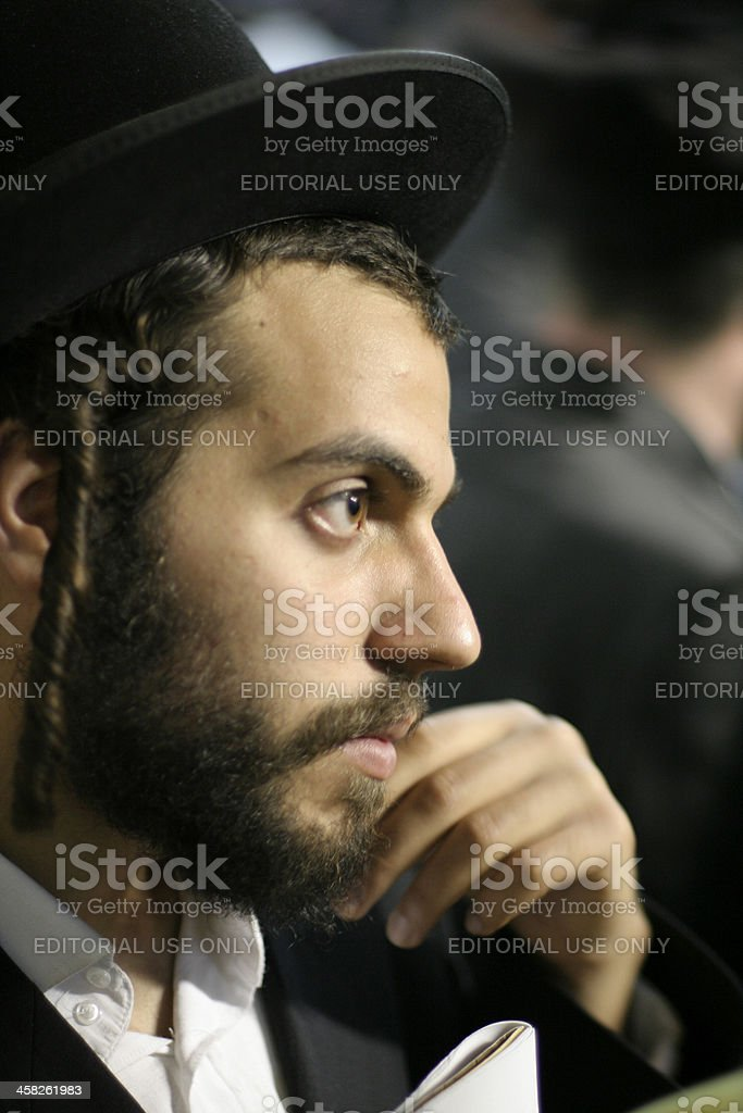 Jewish man stock photo