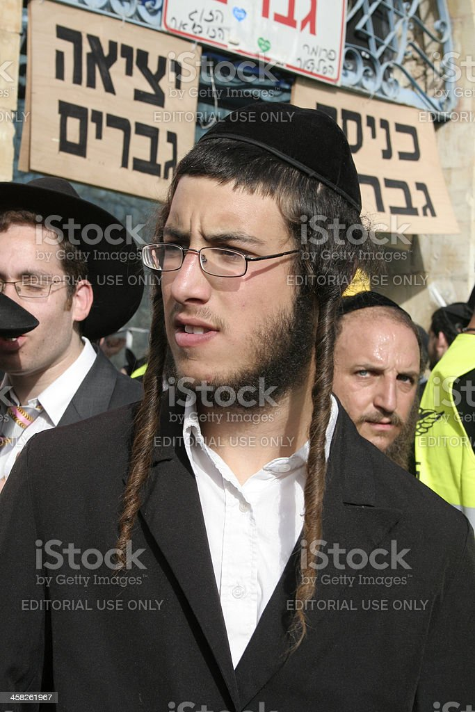 Jewish men stock photo