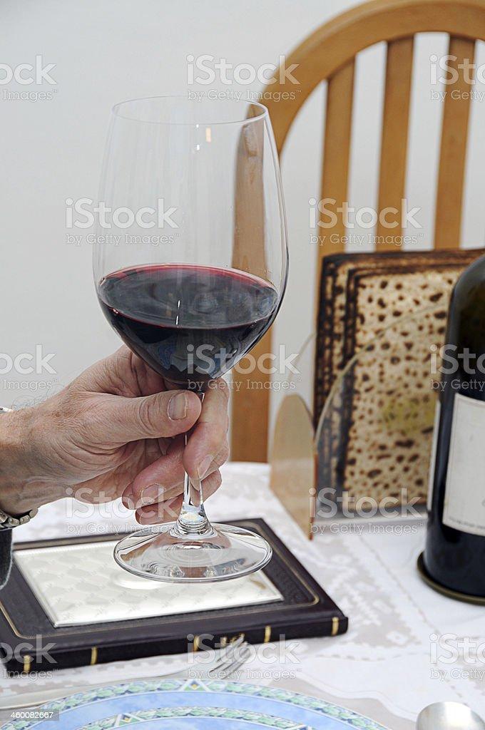 Jewish Passover Dinner royalty-free stock photo