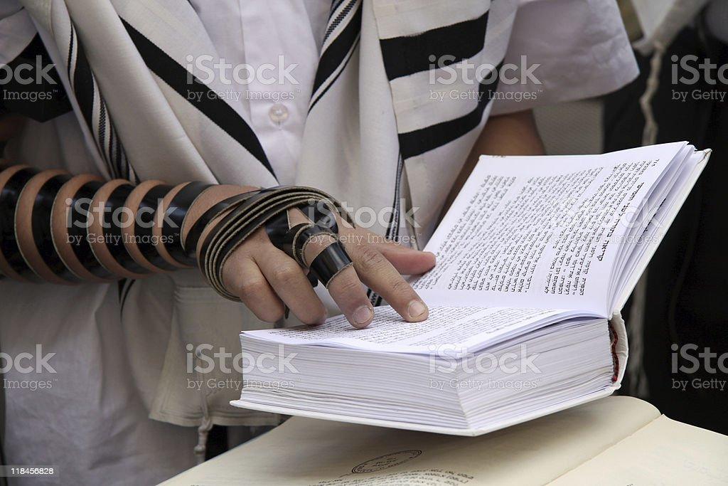 Jewish Prayer royalty-free stock photo