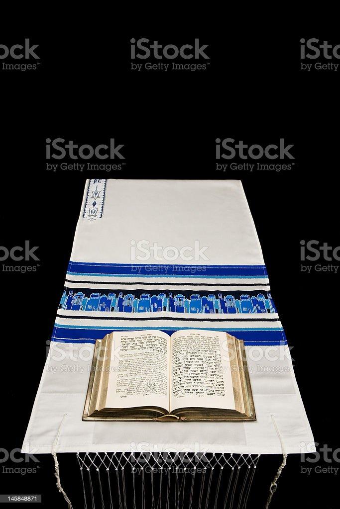 Jewish Prayer Shawl, Or Tallit, And Book Of Prayers, Siddur stock photo