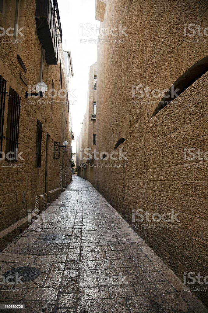 Jewish Quarter Alley stock photo