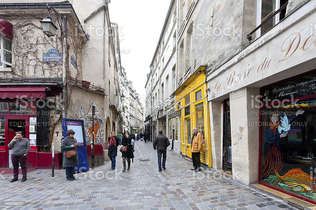 Jewish quarter of Le Marais in Paris, France stock photo
