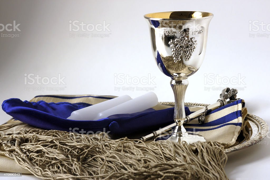 Jewish still life stock photo