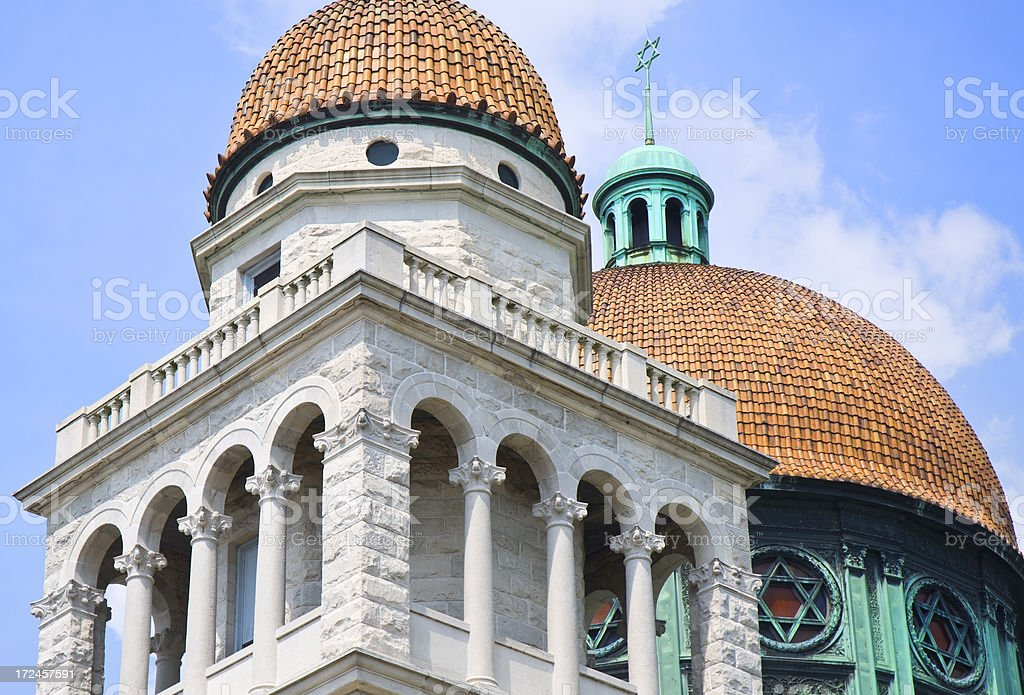 Jewish Temple In Baltimore Maryland Against Cloudscape royalty-free stock photo