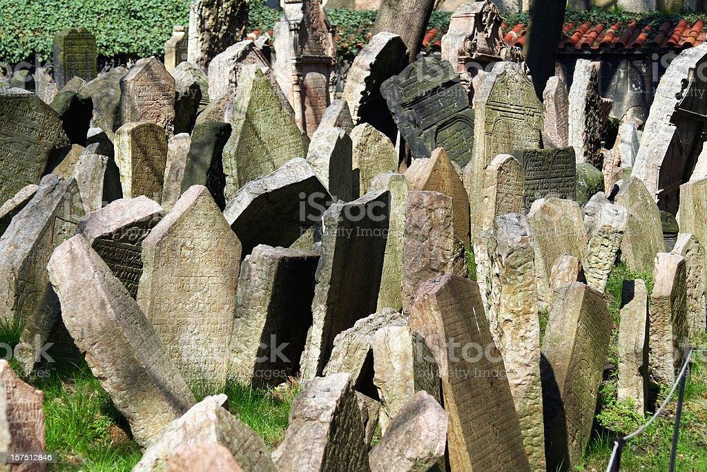 Jewish tombstones royalty-free stock photo
