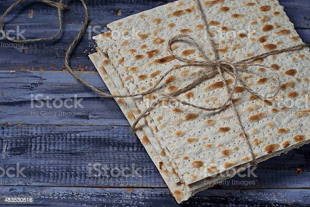 Jewish Traditional Passover Matzo Bread Stock Photo - Download Image Now
