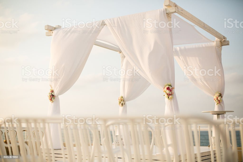 Jewish wedding chuppah stock photo