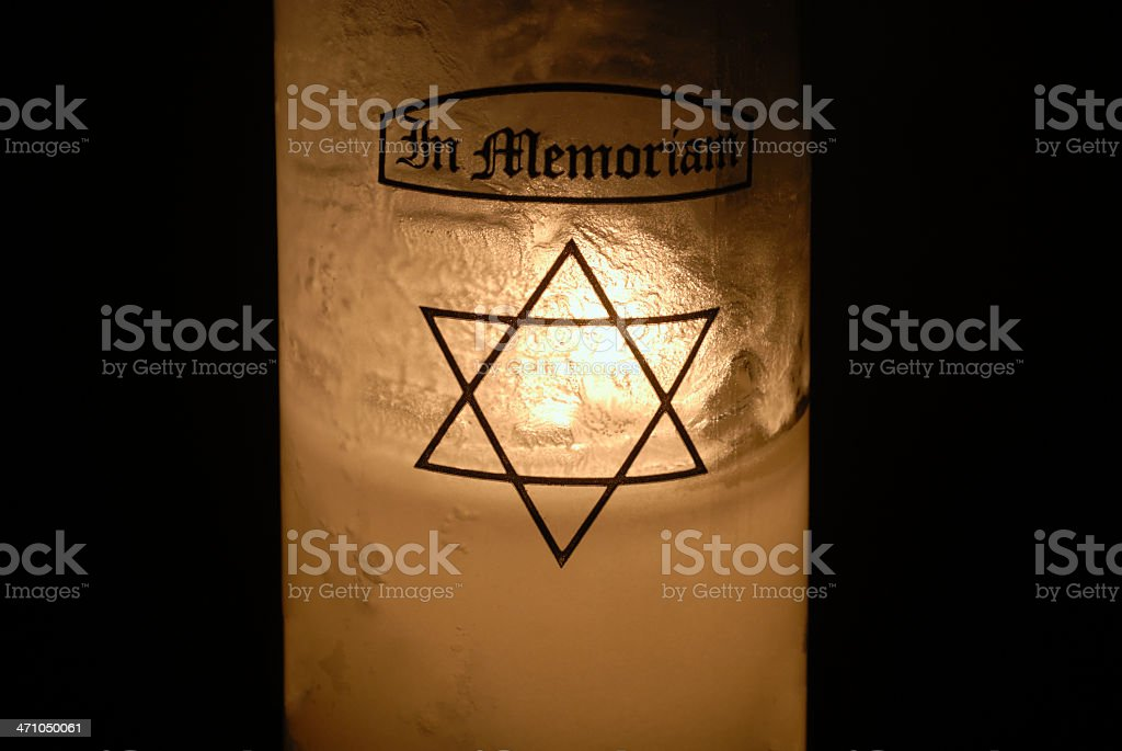Jewish Yahrzeit Candle to Remember the Dead royalty-free stock photo