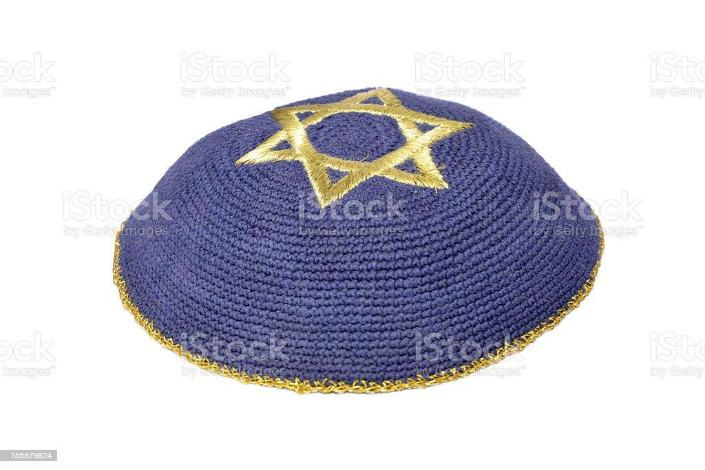 Jüdische Kipa - Lizenzfrei Blau Stock-Foto
