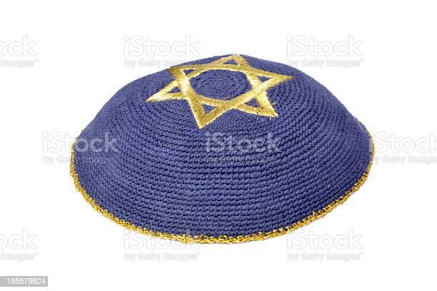 Jüdische Kipa Stockfoto und mehr Bilder von Blau
