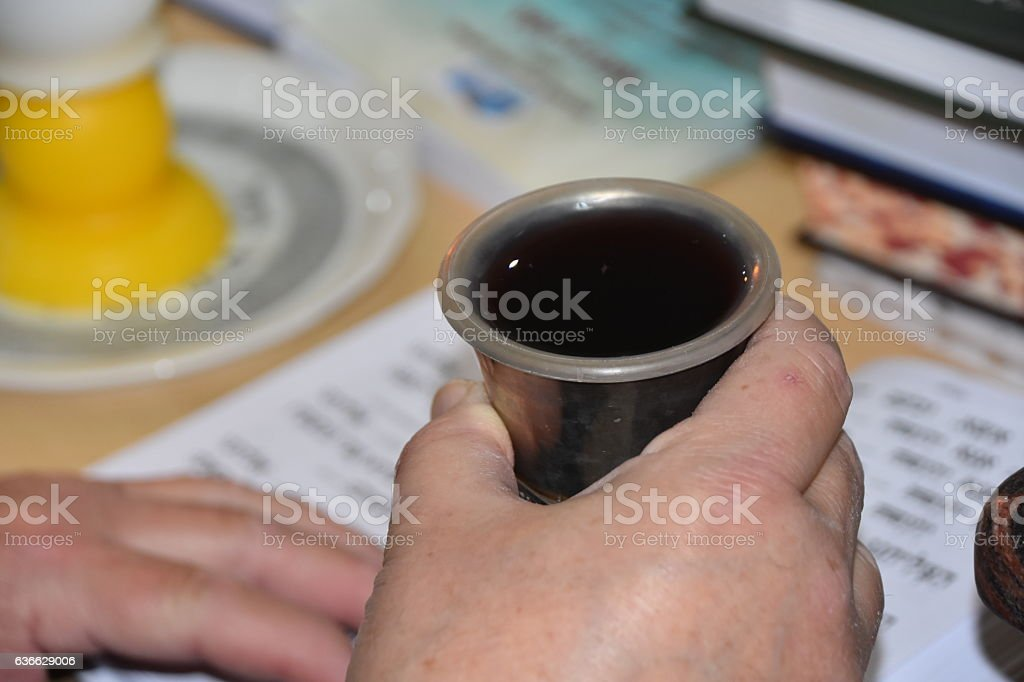 Jews pray, Rabbi prays on Saturday - Stock image stock photo