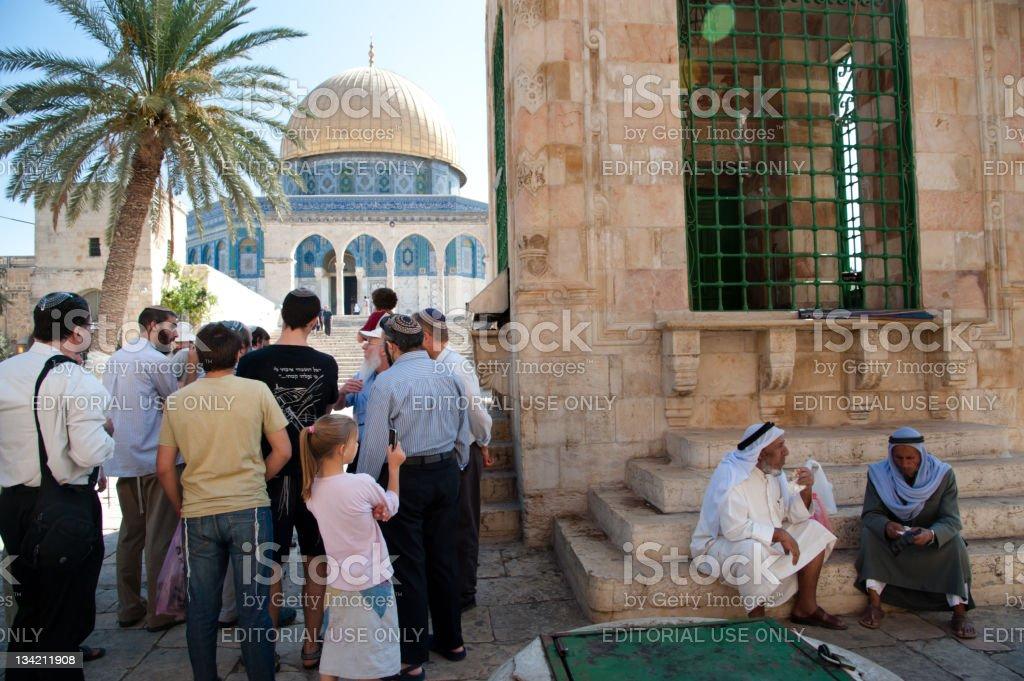 Jews Visit Temple Mount royalty-free stock photo