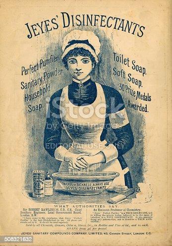 istock Jeyes' Disinfectants advertisement c1890 508321632