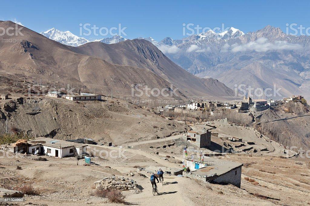 Jharkot downhill, Nepal stock photo