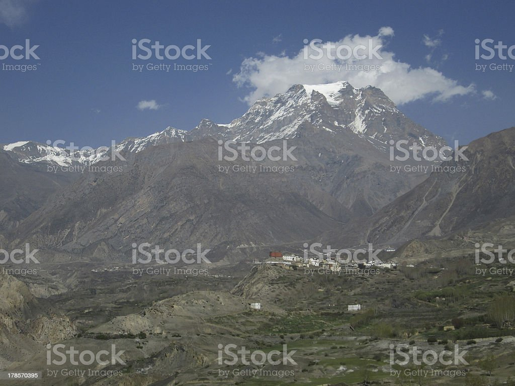 Jharkot, village in the Mustang Region royalty-free stock photo