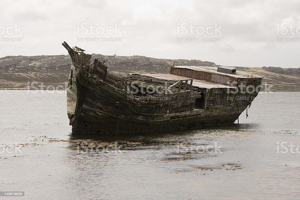 Jhelum in Port Stanley, Falkland Islands stock photo