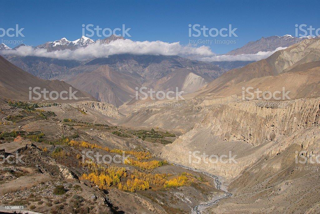 Jhong Khola valley royalty-free stock photo