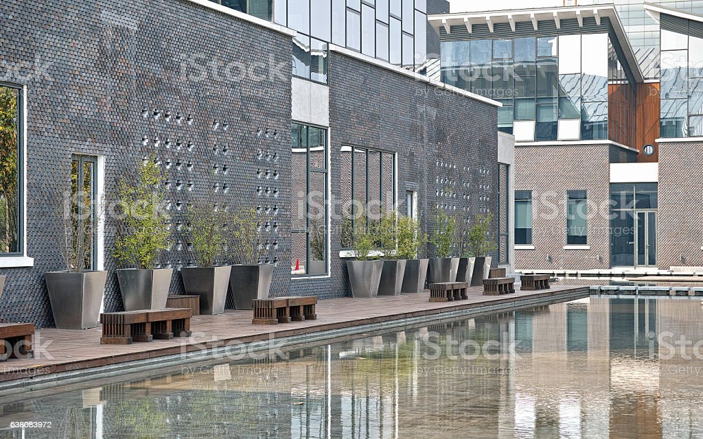 Jiading library, the most beautiful library in Shanghai. stock photo