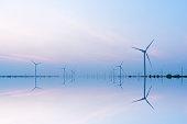 Wind generators along the coast