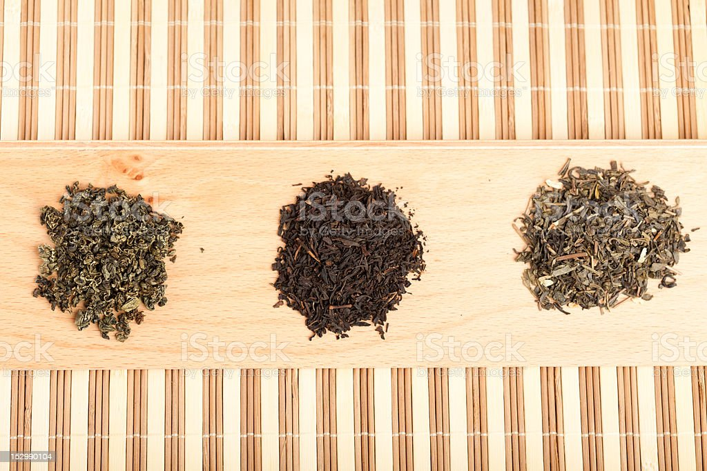 Jiaogulan, black and green tea royalty-free stock photo