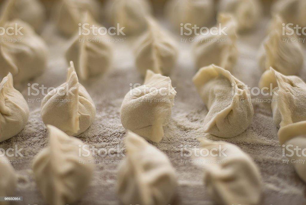 Jiaozi, Chinese dumplings royalty-free stock photo