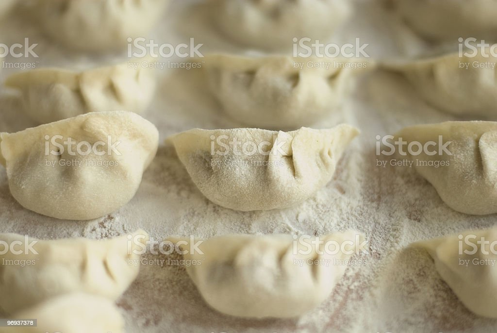 Jiaozi, Chinese dumplings royalty-free stock photo